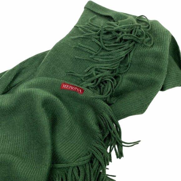 Vibrant Extra Soft Green Merona Scarf EUC